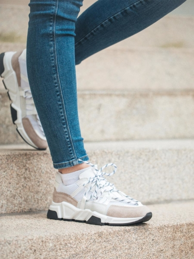 DWRS Sneaker weiß_beige 208213