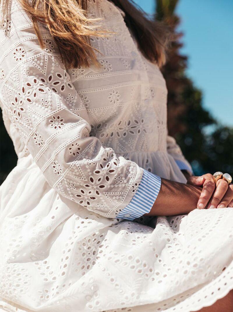 CATNOIR Kleid Lochmuster 208467