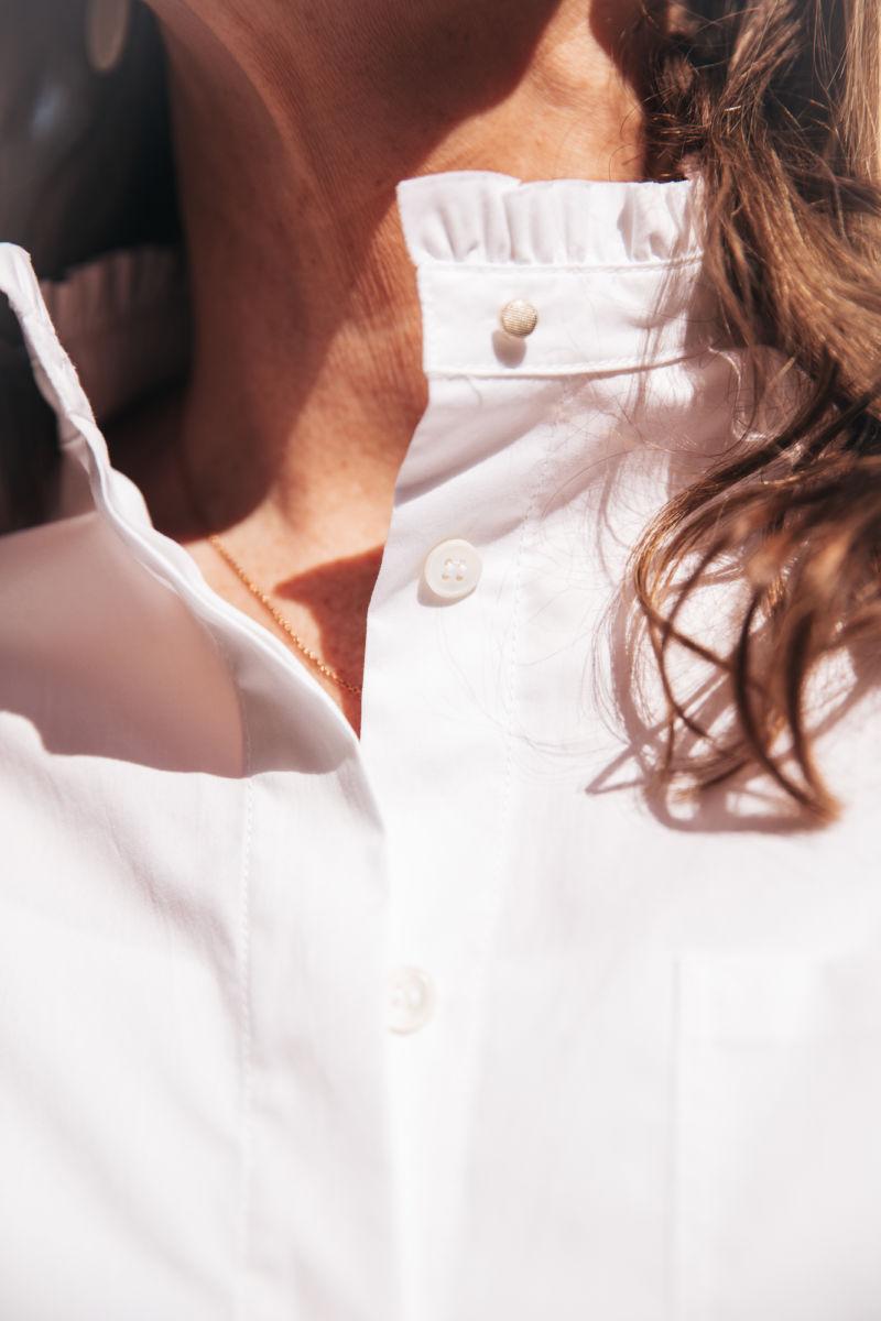 SPOON Kleid flared weiß 208449