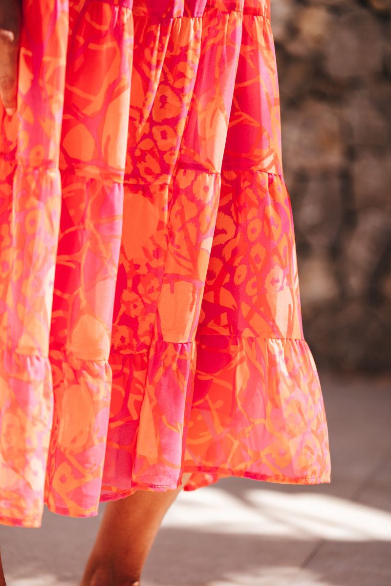 SEM PER LEI Kleid print coralle 208373